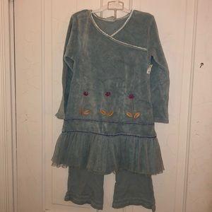 Naartjie blue top & pants set 6T